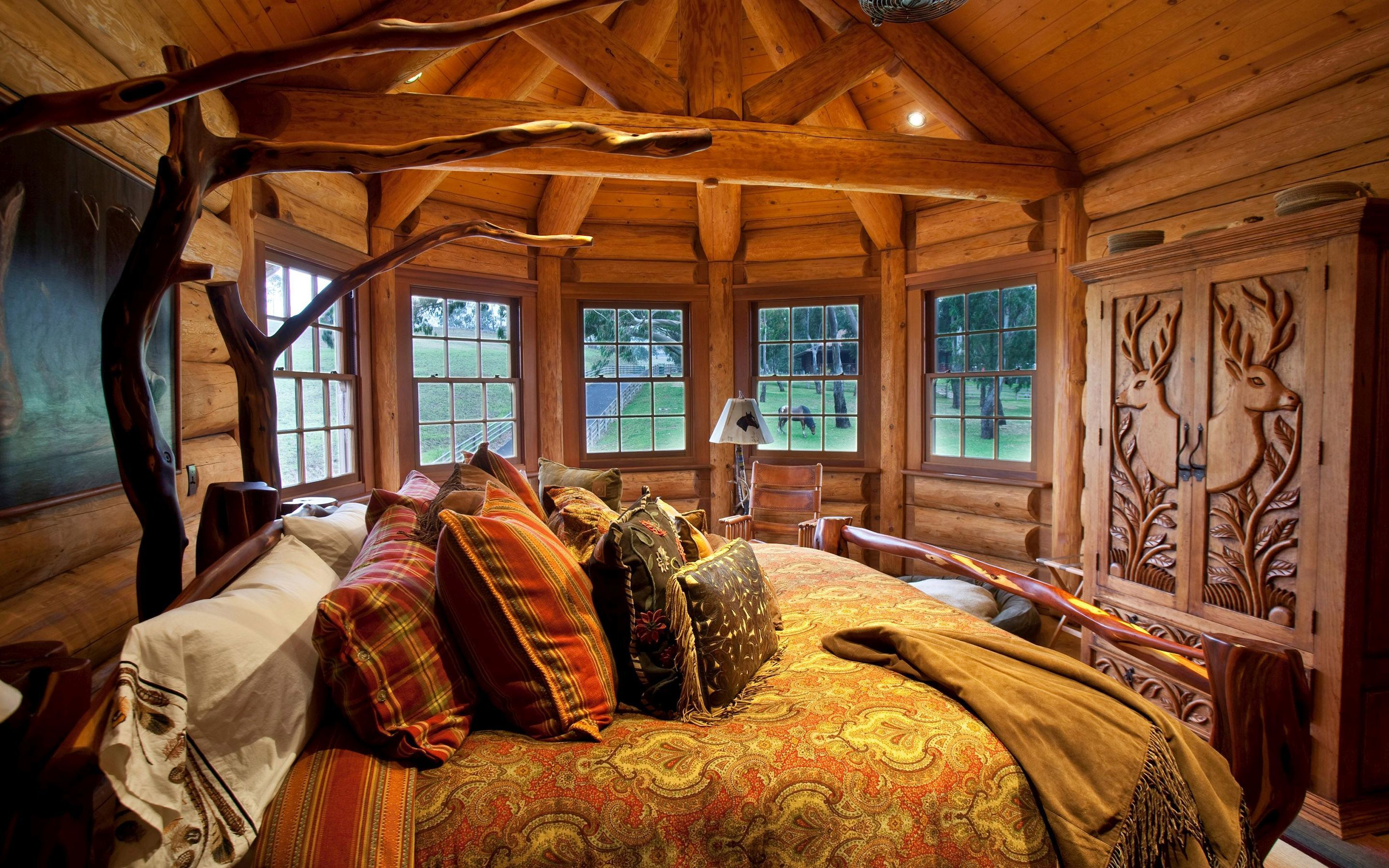 100+ [ cabin bedroom ideas ] | interior interior log homes decor